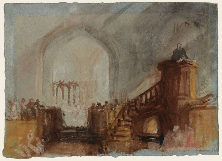 A Sermon from the High Pulpit: The Chancel Behind 1827 by Joseph Mallord William Turner 1775-1851