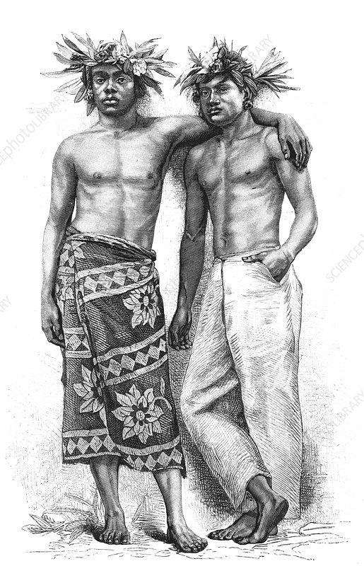19th Century Tahitian people